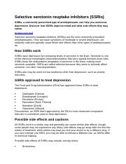 WHAT IS THE ROLE OF SSRI ANTIDEPRESSANTS.docx