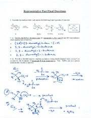 CHEM 281 2011-3 PROBLEM SET 12 (Past Final Examinations) SOLUTIONS