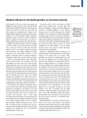 The Lancet' Medical collusion in the death penalty, an american atrocity