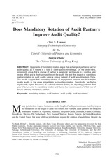 Audit Partner Rotation