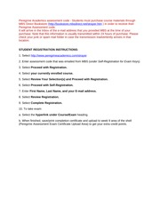 STUDENT REGISTRATION INSTRUCTIONS 2013