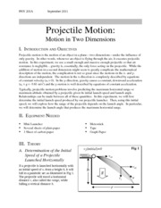 201-04 Projectile Motion_durbin
