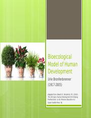 Lecture notes on Bioecological Model of Human development (Bronfenbrenner).pptx