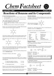 Benzene Rxns