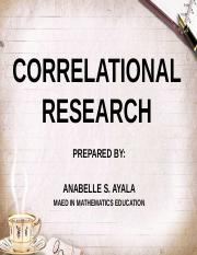 R2 CORRELATIONAL RESEARCH PPT
