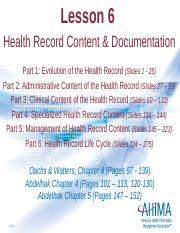 Lesson 6. Health Record Content and Documentation updated again.pptx