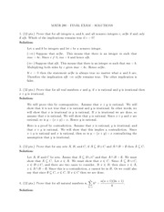 Exam s Final Solutions
