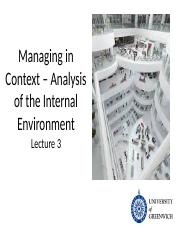 Lecture 3 Managing in Context 2