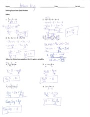 equation solving notes