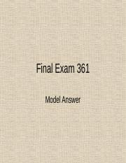 Final exam solution CSC 361 (new version)