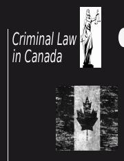 Criminal law in Canada .ppt
