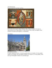 Arte Romanesque and other arts