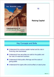 ch 16 (Raising Capital)