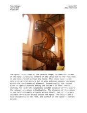 ARCH 1412-Loretto Chapel Stair Case