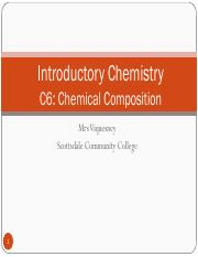 C130 C 6 - Chemical Composition