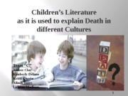 ENG 290 Role of Children's Literature Week 5 Team Assignment on Death