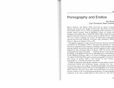 Communication and emotion. Ch10. Pornography and erotica