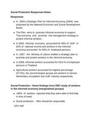 Social Protection Responses Notes