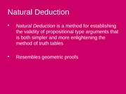 7.1 and 7.2 Natural Deduction