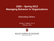 Chapter 6 - Motivating Others SP 2014