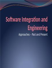 6. Software Integration and Engineering - Approaches - 160106.pptx