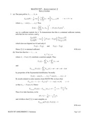 MATH 557 Fall 2013 Assignment 2 Solutions