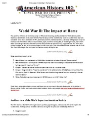 H102 Lecture 21_ World War II_ The Home Front
