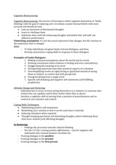 Lecture Note Cognitive Restructuring