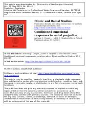 Conditioned emotional responses in racial prejudice (1)
