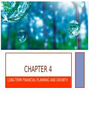Chapter 4 (Financial Planning)