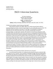 Pace II Interview Questions