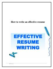 How to write an effective resume.pdf