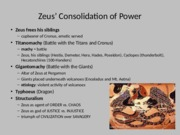 Lecture 3 - Zeus' Rise to Power, Creation of Mortals