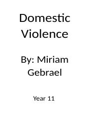 Domestic Violence legal assessment