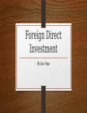 Foreign Direct Investment power point presentation
