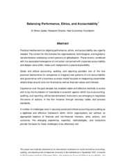 Zadek - Balancing Performance  Ethics