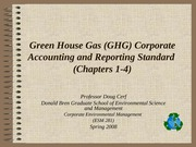 Green house gas accounting and reporting