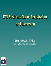 DTI Business and Licensing Process - Ateneo.ppt