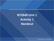 NT2640.U1.WS1.Encapsulation