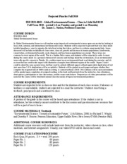 Global Environmental Issues Syllabus Fall 2010