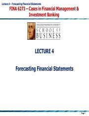 Lecture 4 - Forecasting Financial Statements.pdf