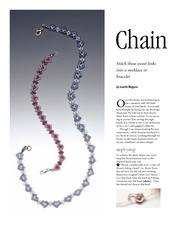 Seed beads - Chain of hearts