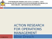 Action Research for Operation Management