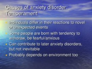 Treatments for anxiety slides