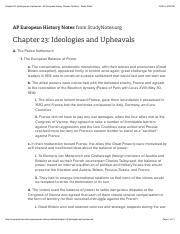 Chapter 23: Ideologies and Upheavals - AP European History Chapter Outlines - Study Notes