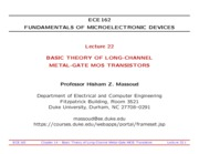 ECE162-Lecture-22-Long-Channel-MOS-Transistors