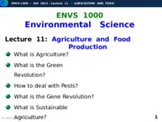 F2015-Lecture 11-Agriculture and Food-posted