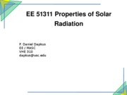 03 EE 51311 Properties of Solar Radiation