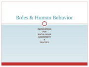 Roles & Human Behavior