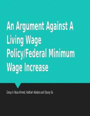 an introduction to the argument against the minimum wage Argument #6: workers will be replaced with machines the flaw of this argument is that companies can do this already, no matter what the minimum wage is set at.